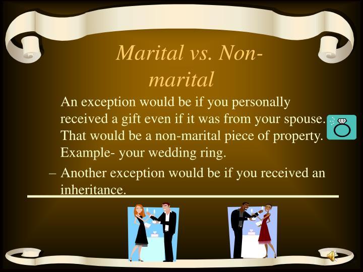 Marital vs. Non-marital