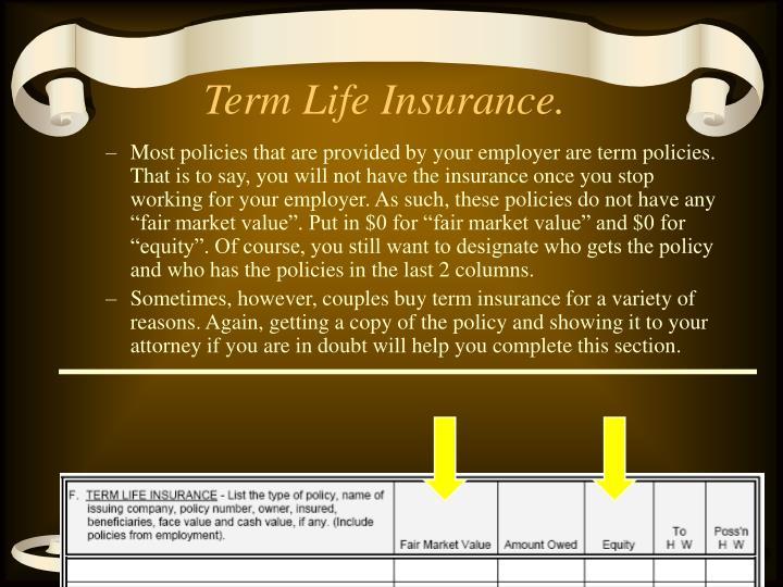 Term Life Insurance.