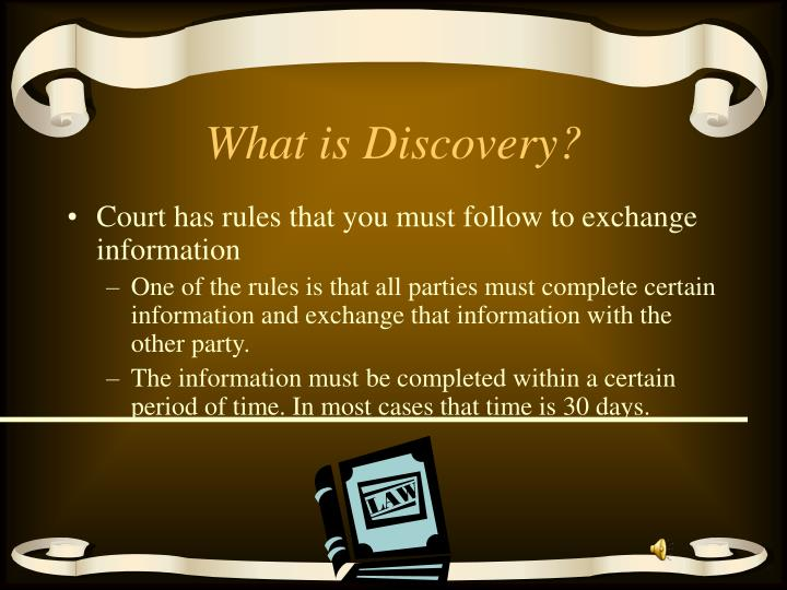 What is discovery