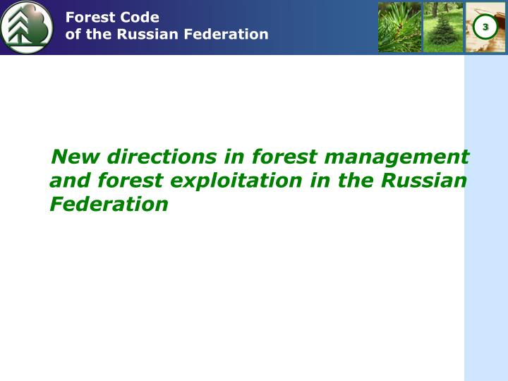 Forest code of the russian federation