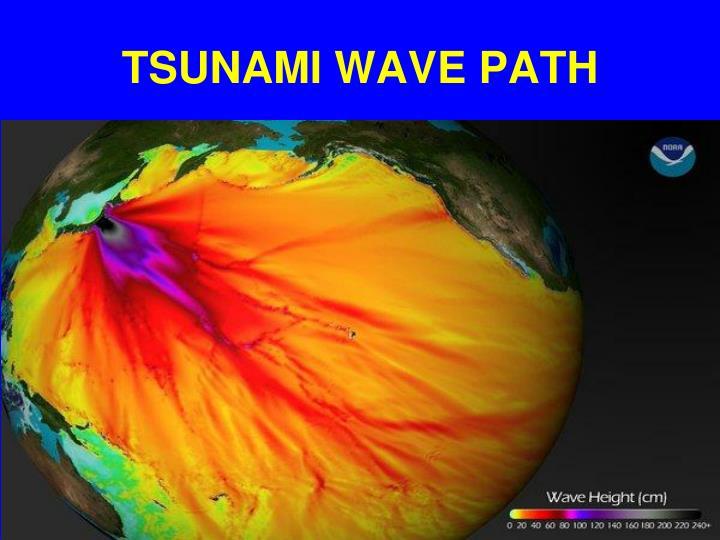 TSUNAMI WAVE PATH