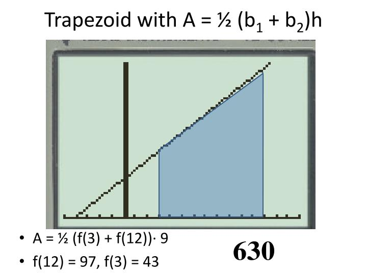 Trapezoid with A = ½ (b