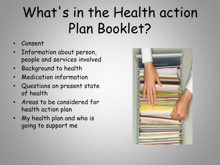 What's in the Health action Plan Booklet?