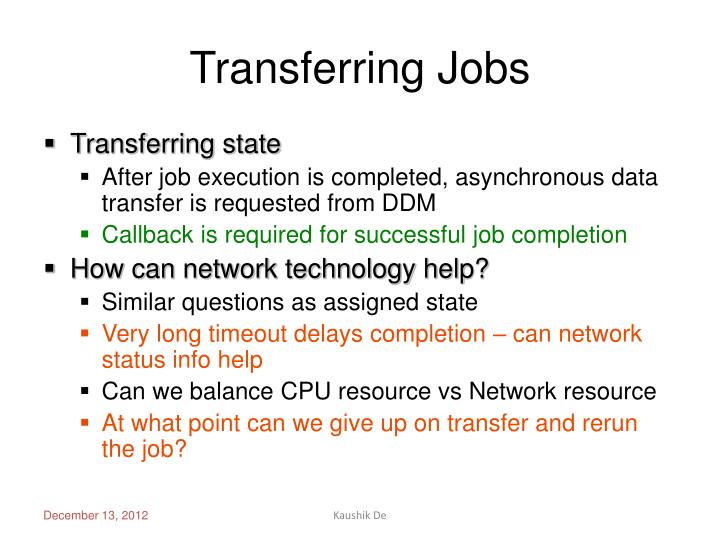 Transferring Jobs
