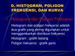 d histogram poligon frekuensi dan kurva