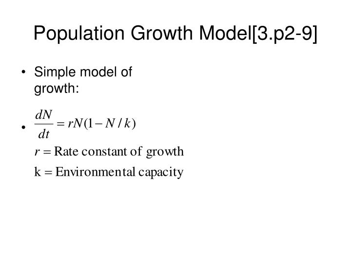Population Growth Model[3.p2-9]