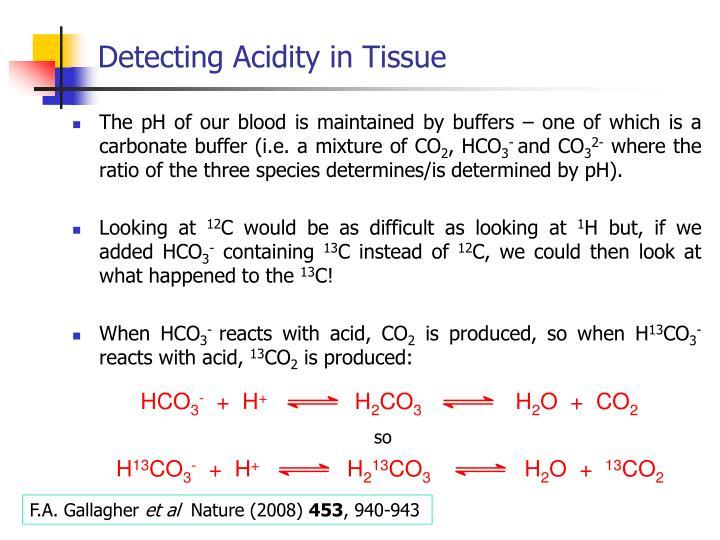 Detecting Acidity in Tissue