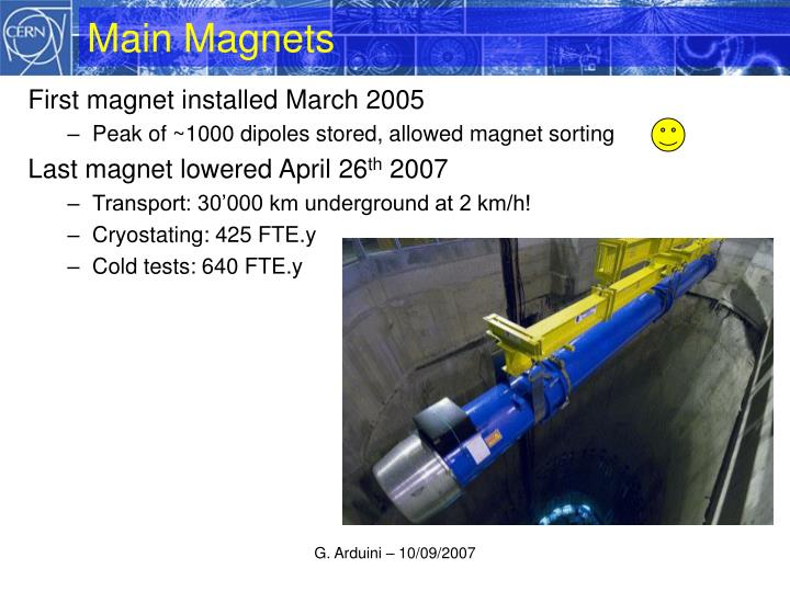 Main Magnets