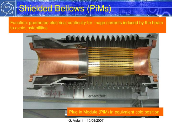 Shielded Bellows (PiMs)