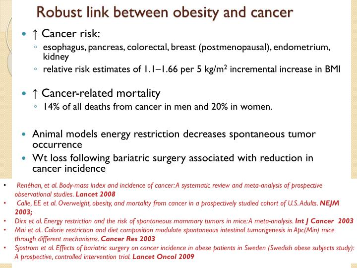 Robust link between obesity and cancer