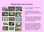 biological diversity in turkey