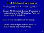 ipv4 address conversion