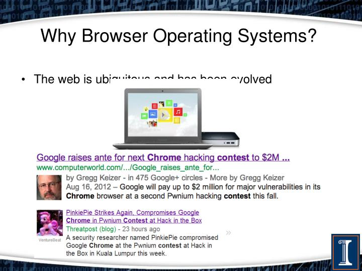 Why browser operating systems
