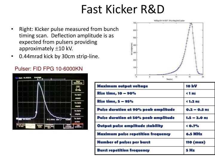 Fast Kicker R&D