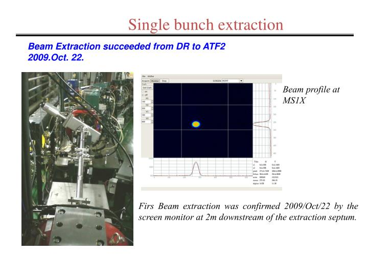 Single bunch extraction