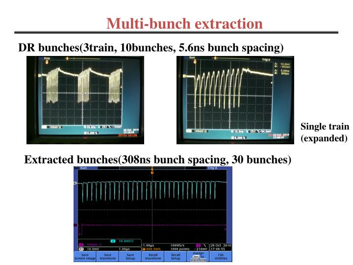 Multi-bunch extraction