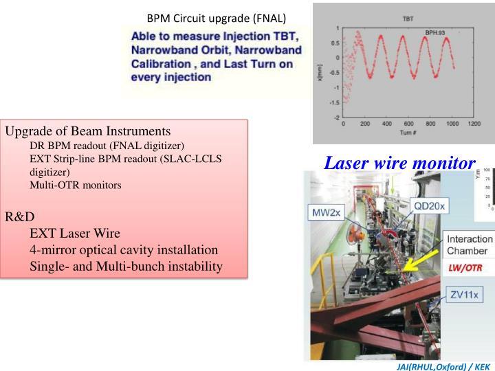 BPM Circuit upgrade (FNAL)