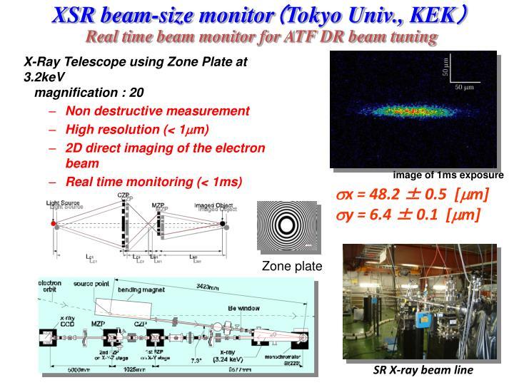 XSR beam-size monitor