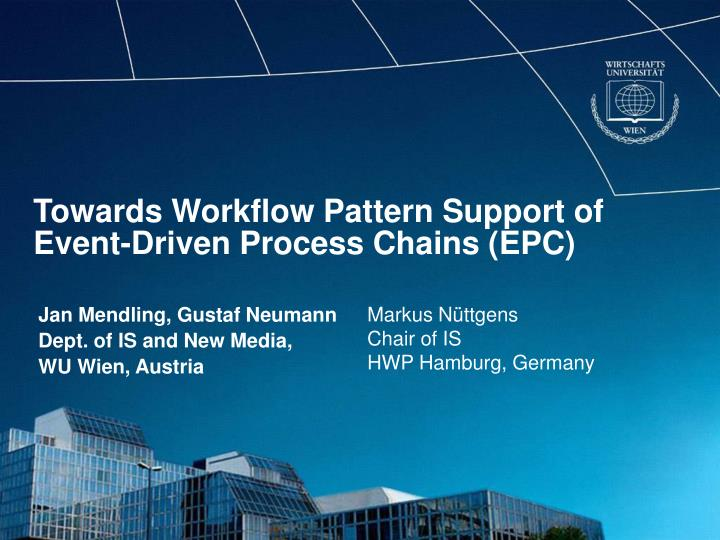 Towards workflow pattern support of event driven process chains epc