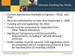 stimulus funding key points