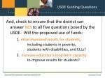 usde guiding questions