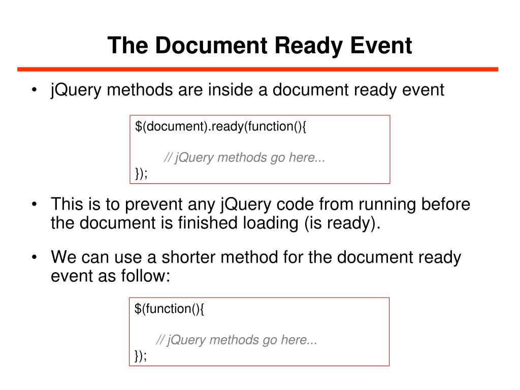 PPT - JQuery PowerPoint Presentation - ID:6317153