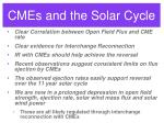 cmes and the solar cycle