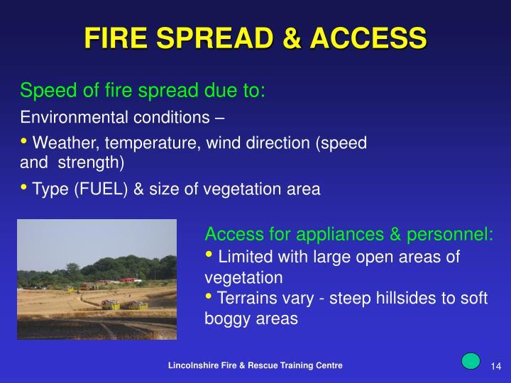 FIRE SPREAD & ACCESS