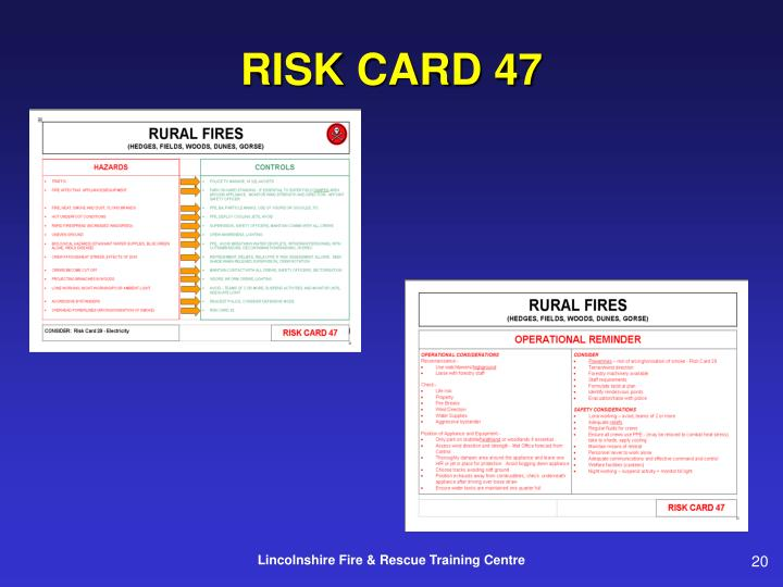 RISK CARD 47