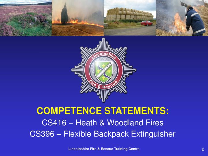 COMPETENCE STATEMENTS: