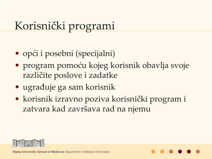 Korisnički programi