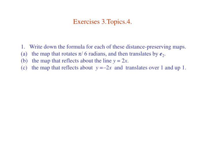 Exercises 3.Topics.4.