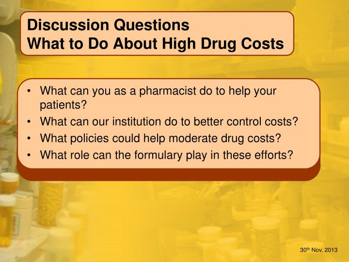 discussion questions what to do about high drug costs n.