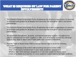 what is required by law for parent involvement