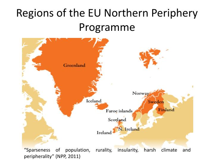 Regions of the eu northern periphery programme