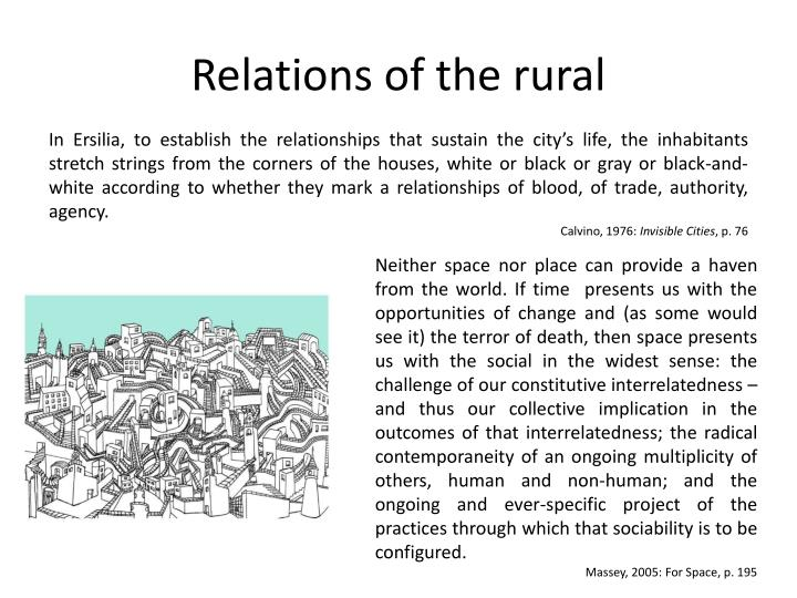 Relations of the rural