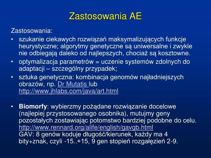 Zastosowania AE