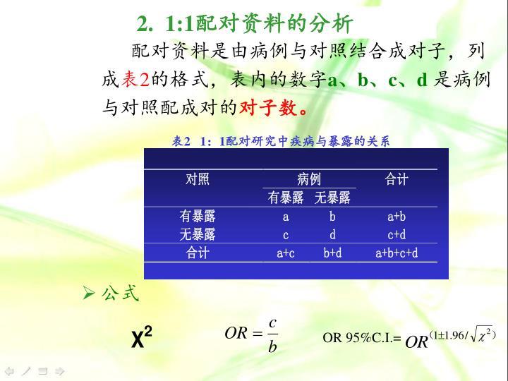 配对资料是由病例与对照结合成对子,列成