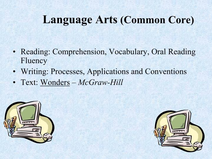 Reading: Comprehension, Vocabulary, Oral Reading Fluency