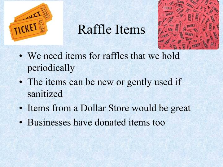 Raffle Items