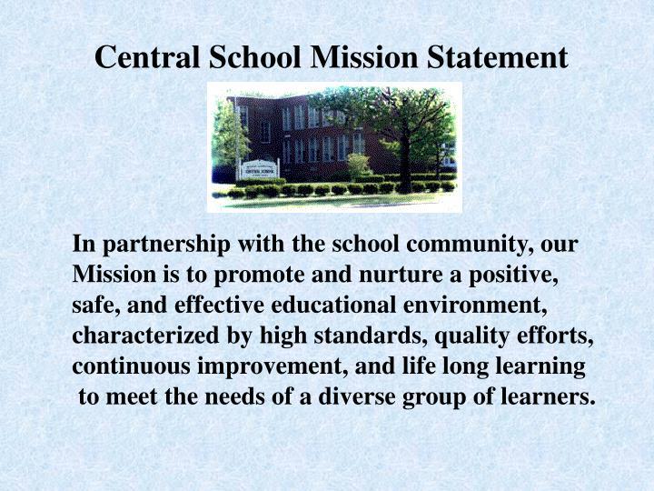 Central School Mission Statement