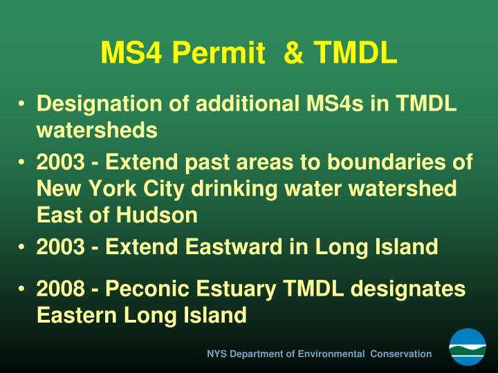 Ms4 permit tmdl