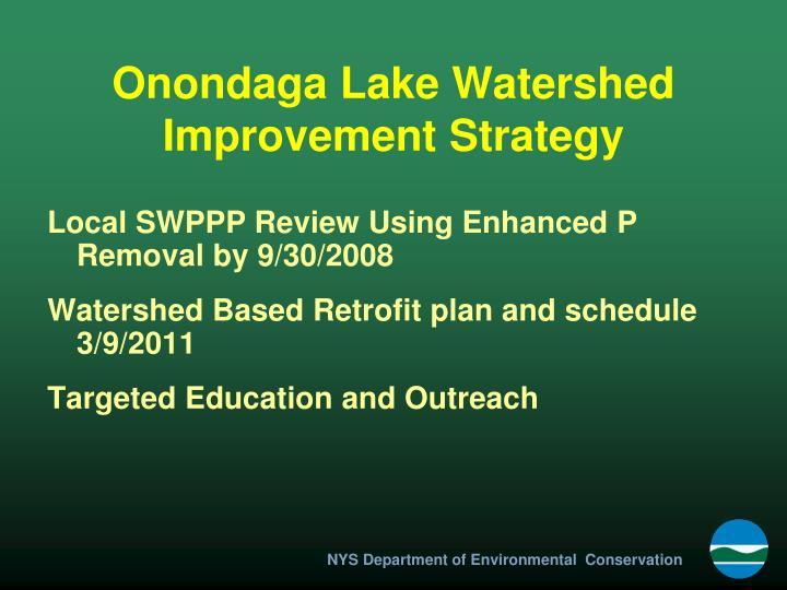 Onondaga Lake Watershed Improvement Strategy