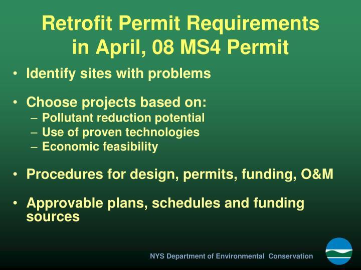 Retrofit Permit Requirements