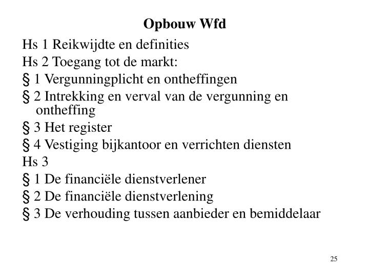 Opbouw Wfd