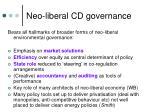 neo liberal cd governance
