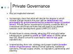 private governance