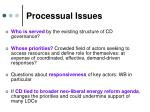 processual issues