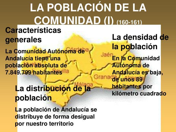 LA POBLACIÓN DE LA COMUNIDAD (I)