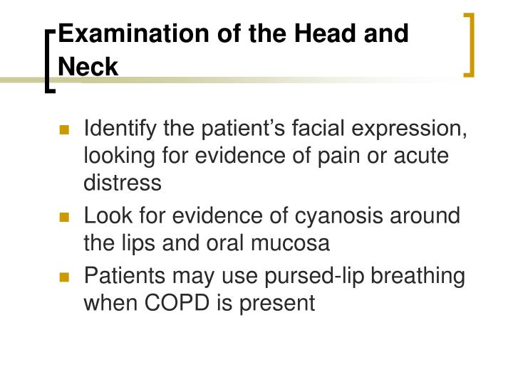 Examination of the head and neck